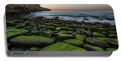 La Jolla Cove Mossy Rocks Sunset Portable Battery Charger