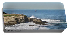 La Jolla Coves Portable Battery Charger by Carol Bradley