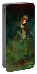 Portable Battery Charger featuring the digital art La Madonna Della Verde by Jack Torcello