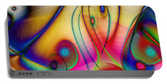 Portable Battery Charger featuring the digital art La Musica Llena El Aire by Kiki Art