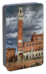 Portable Battery Charger featuring the photograph La Piazza by Hanny Heim
