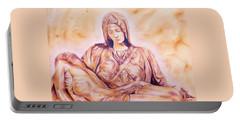 La Pieta By Michelangelo Portable Battery Charger