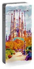 La Sagrada Familia - Park View Portable Battery Charger by Marian Voicu
