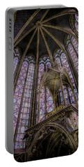 Paris, France - La-sainte-chapelle - Apse And Canopy Portable Battery Charger