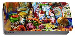 La Table De Fruits De Mer Portable Battery Charger