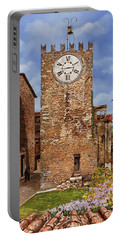 La Torre Del Carmine-montecatini Terme-tuscany Portable Battery Charger