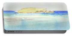 La Tortue, St Barthelemy, 1996 100x60 Cm Portable Battery Charger