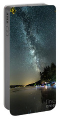 Labor Day Milky Way In Vacationland Portable Battery Charger by Patrick Fennell
