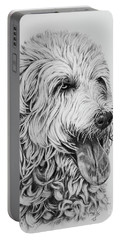 Labradoodle Portable Battery Charger by Terri Mills