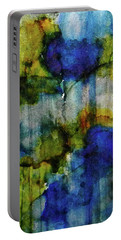 Portable Battery Charger featuring the painting Labradorite Dreams Ink #9 by Sarajane Helm