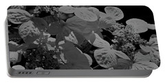 Lace Cap Hydrangea In Black And White Portable Battery Charger