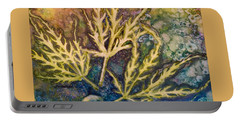 Portable Battery Charger featuring the painting Lace Leaves by Nancy Jolley