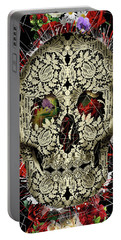 Lace Skull Floral Portable Battery Charger