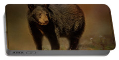 Black Bear In The Fall Portable Battery Charger