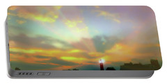 Portable Battery Charger featuring the photograph Lackawanna Transit Sunset by Diana Angstadt