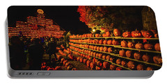 Laconia Pumpkin Festival Graphic Design 3 Portable Battery Charger
