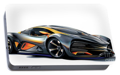 Portable Battery Charger featuring the drawing Lada Raven Vector Art by Brian Gibbs