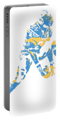 Ladainian Tomlinson San Diego Los Angeles Chargers Pixel Art 3 Portable Battery Charger