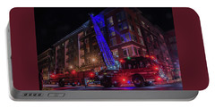 Ladder Truck Deployed At Night Portable Battery Charger