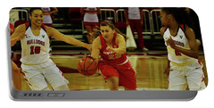 Portable Battery Charger featuring the photograph Ladies Basketball by Debby Pueschel