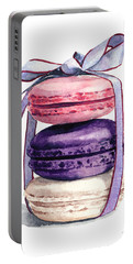 Laduree Macaron Stack Tied With A Bow Pink Violet Portable Battery Charger