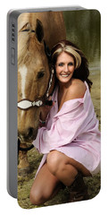 Lady And Her Horse 2 Portable Battery Charger