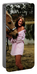 Lady And Her Horse Portable Battery Charger