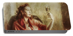 Lady By The Window Portable Battery Charger