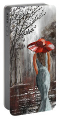Lady In A Red Hat Portable Battery Charger