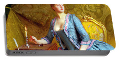 Lady In An Interior Portable Battery Charger