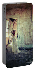 Lady In An Old Abandoned House Portable Battery Charger