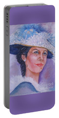 Lady In Blue Portable Battery Charger