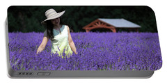Lady In Lavender Portable Battery Charger