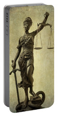 Lady Justice Portable Battery Charger
