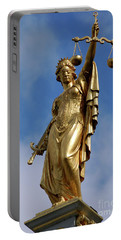 Lady Justice In Bruges Portable Battery Charger