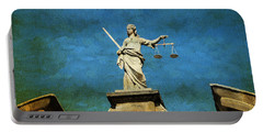 Lady Justice. Streets Of Dublin. Painting Collection Portable Battery Charger