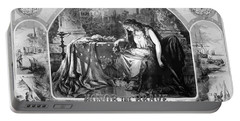Lady Liberty Mourns During The Civil War Portable Battery Charger