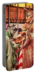 Portable Battery Charger featuring the painting Lady Liberty On Broadway by Joan Reese