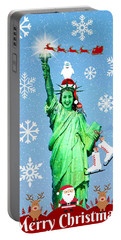 Lady Liberty's Got The Christmas Spirit II Portable Battery Charger