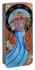 Lady Of The Lilly's  Portable Battery Charger by Susan Duda