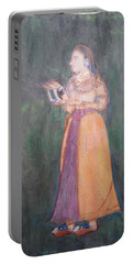 Portable Battery Charger featuring the painting Lady Of The Court by Vikram Singh