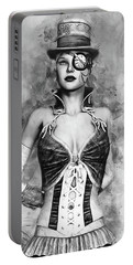 Lady Steampunk Portable Battery Charger