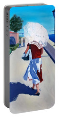 Lady With A Parasol Portable Battery Charger
