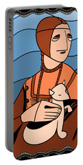 Lady With An Ermine By Piotr Portable Battery Charger