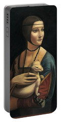 Lady With Ermine - Pastel Portable Battery Charger