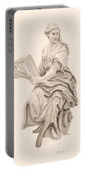 Lady With Harp Portable Battery Charger