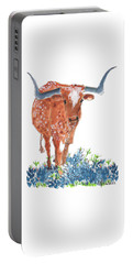 Ladybug In The Bluebonnets Lh002 By Kmcelwaine Portable Battery Charger