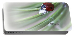 Ladybug On Pine Portable Battery Charger