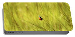 Ladybug In A Wheat Field Portable Battery Charger
