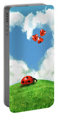 Ladybug With Heart Balloon Portable Battery Charger